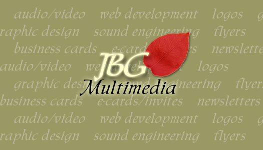 JBG Multimedia - Business Card - Front